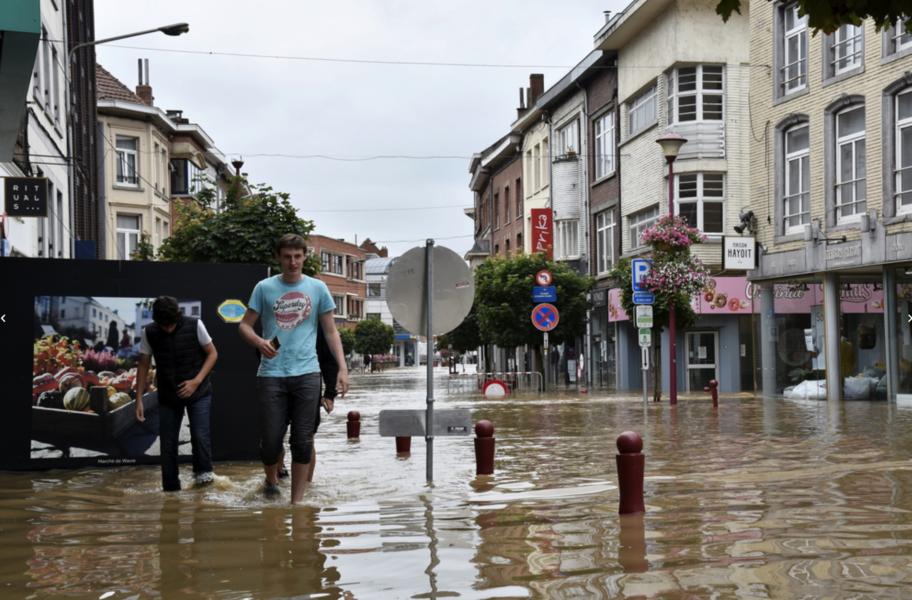 Så här såg det ut i Centrala Wavre, två mil öster om Bryssel, i somras.