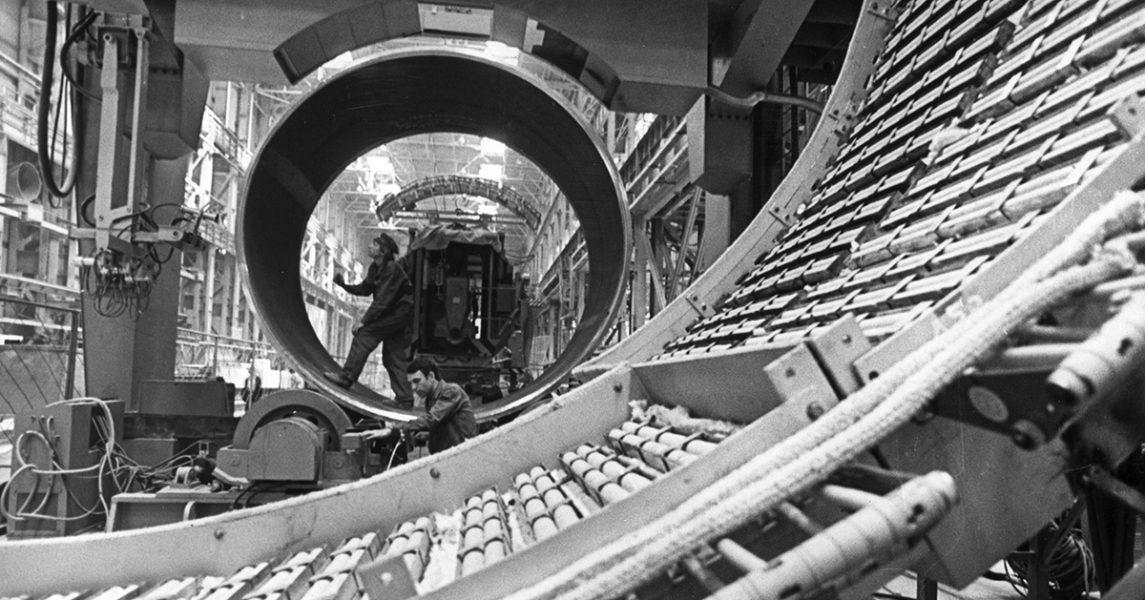 Ett kärnkraftsreaktorbygge i Sovjetunionen 1982, fyra år före olyckan i Tjernobyl.