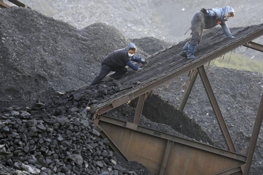 Arkivbild från en kolgruva i kinesiska provinsen Huaibei.