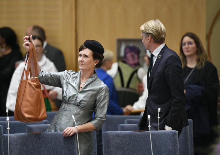 Språkrören Märta Stenevi och Per Bolund har stöd i partiet för bilden av att Miljöpartiet fått igenom mycket under åren i regering.