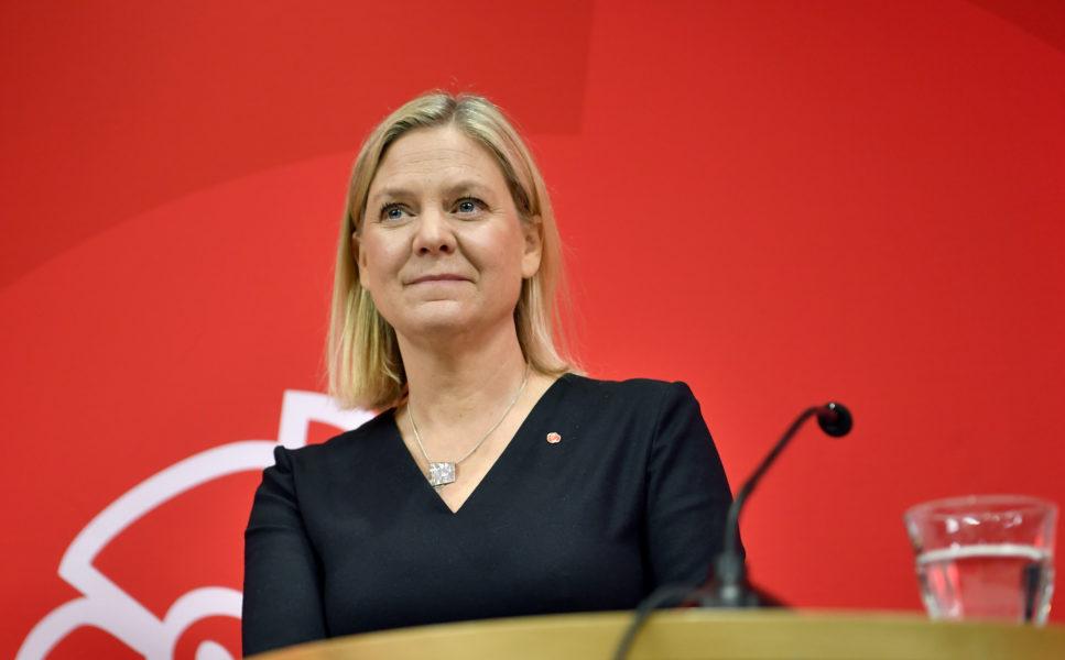 Enligt Magdalena ANdersson är det bra att Sverige nu har en mer restriktiv migrationspolitik.